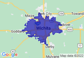 Wichita, Kansas Border Map - Phone Size