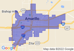 Amarillo, Texas Border Map - Phone Size