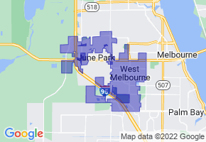 West Melbourne, Florida Border Map - Phone Size