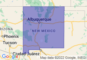 New Mexico Border Map - Phone Size