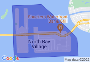 North Bay Village, Florida Border Map - Phone Size
