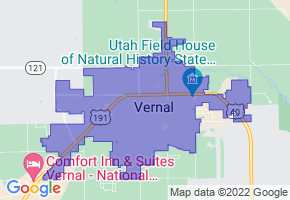 Vernal, Utah Border Map - Phone Size