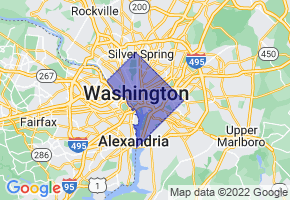 Washington, District Of Columbia Border Map - Phone Size