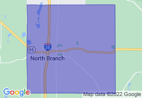 North Branch, Minnesota Border Map - Phone Size