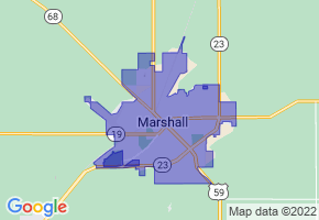 Marshall, Minnesota Border Map - Phone Size