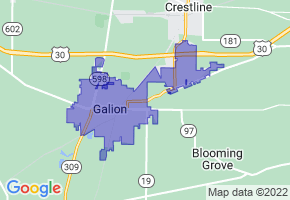 Galion, Ohio Border Map - Phone Size
