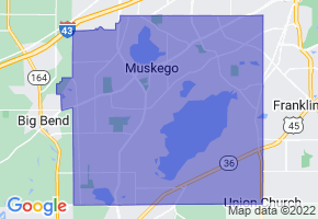 Muskego, Wisconsin Border Map - Phone Size