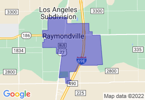 Raymondville, Texas Border Map - Phone Size