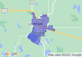 Litchfield, Minnesota Border Map - Phone Size