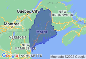 Maine Border Map - Phone Size