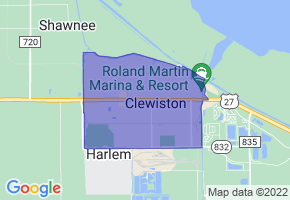 Clewiston, Florida Border Map - Phone Size