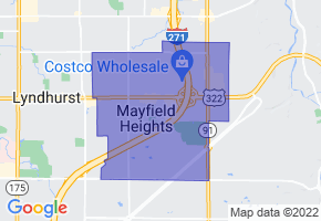 Mayfield Heights, Ohio Border Map - Phone Size