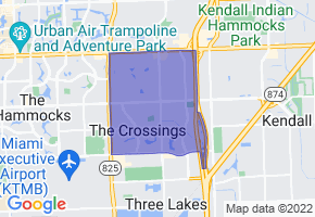 The Crossings, Florida Border Map - Phone Size