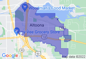 Altoona, Wisconsin Border Map - Phone Size