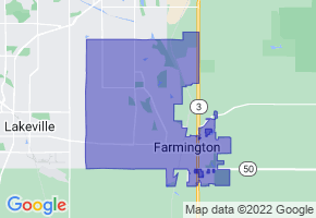 Farmington, Minnesota Border Map - Phone Size