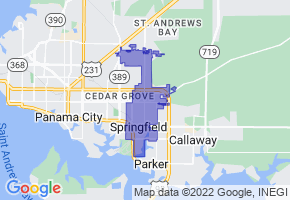 Springfield, Florida Border Map - Phone Size