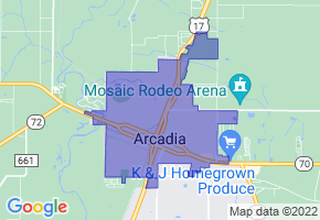 Arcadia, Florida Border Map - Phone Size