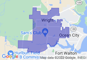 Wright, Florida Border Map - Phone Size