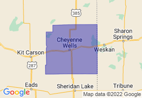 Cheyenne County School District RE-5, Colorado Border Map - Phone Size