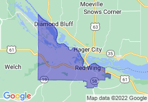 Red Wing, Minnesota Border Map - Phone Size