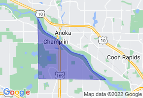 Champlin, Minnesota Border Map - Phone Size