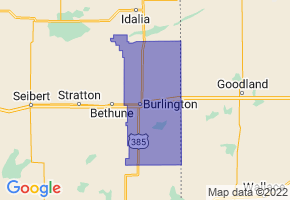 Burlington School District RE-6J, Colorado Border Map - Phone Size