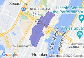 Union City, New Jersey Border Map - Phone Size