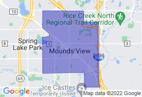 Mounds View, Minnesota Border Map - Phone Size