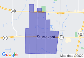 Sturtevant, Wisconsin Border Map - Phone Size