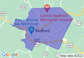 Bedford, Virginia Border Map - Phone Size