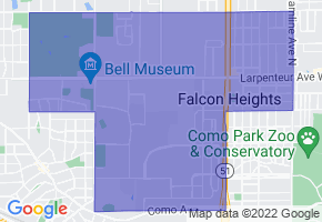 Falcon Heights, Minnesota Border Map - Phone Size