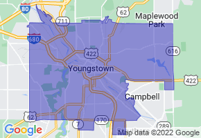 Youngstown, Ohio Border Map - Phone Size