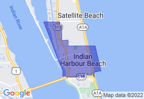 Indian Harbour Beach, Florida Border Map - Phone Size