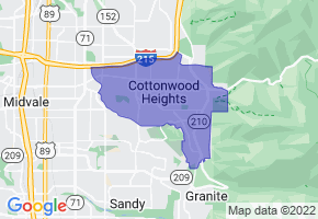 Cottonwood Heights, Utah Border Map - Phone Size