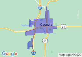 Osceola, Iowa Border Map - Phone Size