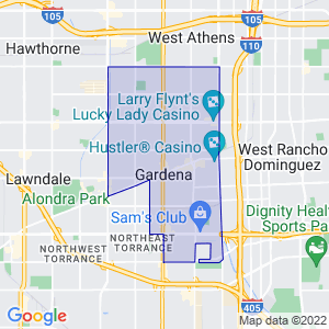 Gardena, California Border Map