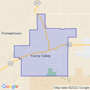 Yucca Valley, California Border Map