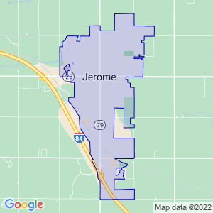 Jerome, Idaho Border Map