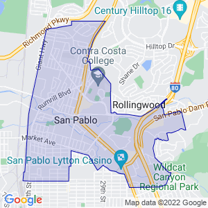 San Pablo, California Border Map