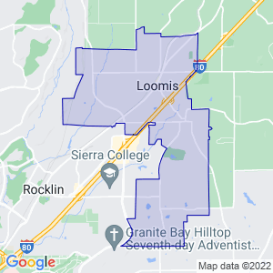 Loomis, California Border Map