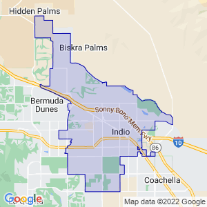Indio, California Border Map