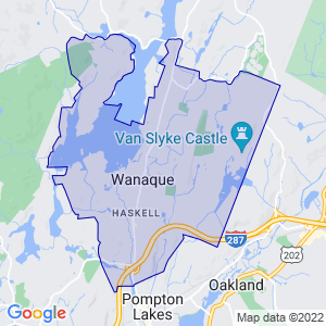 Wanaque, New Jersey Border Map