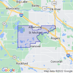 St. Michael, Minnesota Border Map