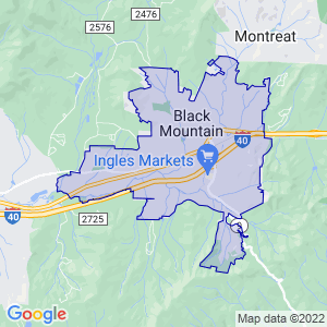 Black Mountain, North Carolina Border Map