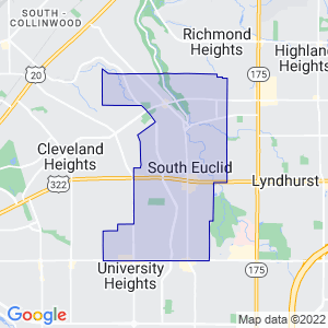 South Euclid, Ohio Border Map