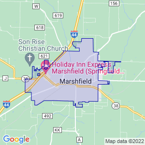 Marshfield, Missouri Border Map