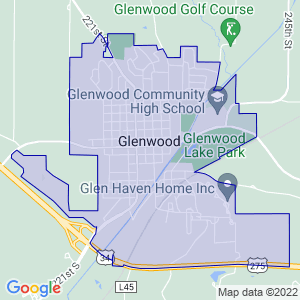 Glenwood, Iowa Border Map