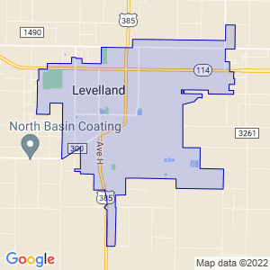 Levelland, Texas Border Map