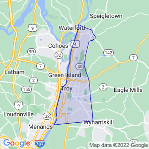 Troy, New York Border Map
