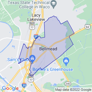 Bellmead, Texas Border Map
